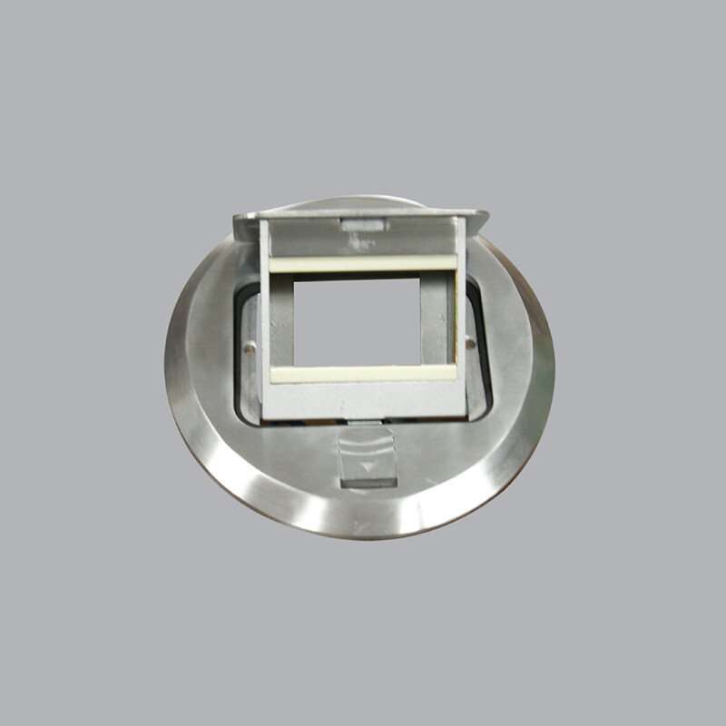 Ổ cắm âm sàn kiểu tròn màu xám FCA-60