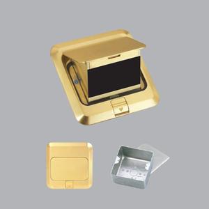 Ổ cắm âm sàn kiểu vuông màu vàng F2Y-60
