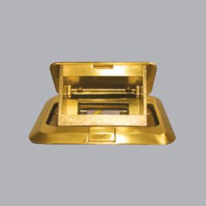 Ổ cắm âm sàn kiểu vuông màu vàng FY-60