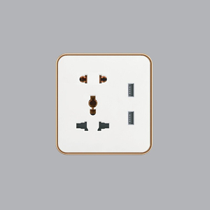 Ổ Cắm Đa Năng + Ổ Cắm Đơn 2 Chấu + 2USB S7MS/USB