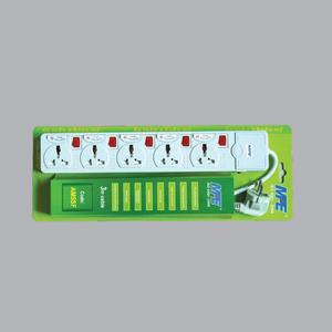 Ổ cắm di động có cầu chì & CB bảo vệ - phích cắm 3 chấu vuông kiểu dáng Anh AM5SFB