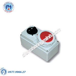 Ổ cắm kèm công tắc PCE 32A 5P 400V IP44 - Model F6125-6