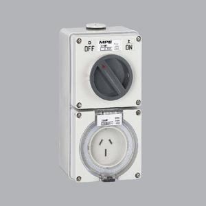 Ổ cắm kết hợp công tắc 3P, 32A, 250V, IP66 - S-332