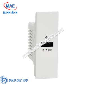 Ổ sạc USB type A, 2.1A, size S M3T_USB_WE