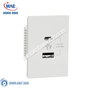 Ổ sạc USB type A+C, 2.4A, size 2S M3T_USB2_WE