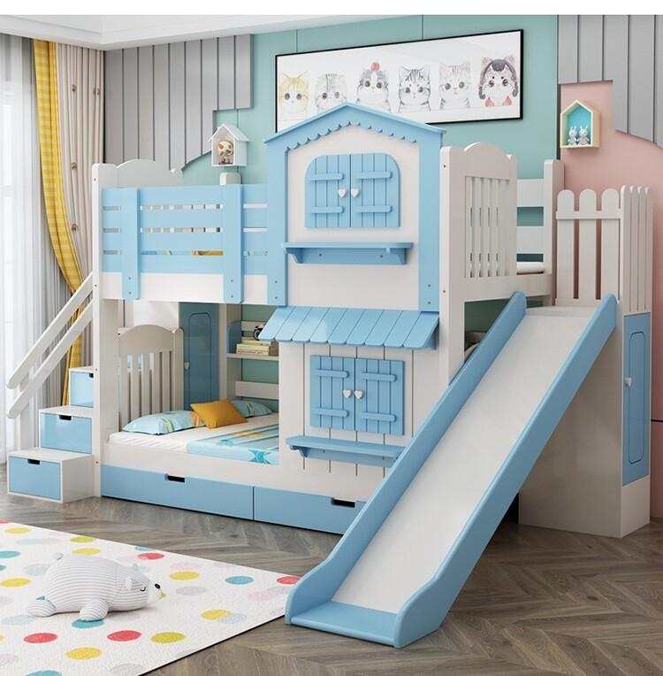 Giường tầng hình ngôi nhà bé trai bé gái