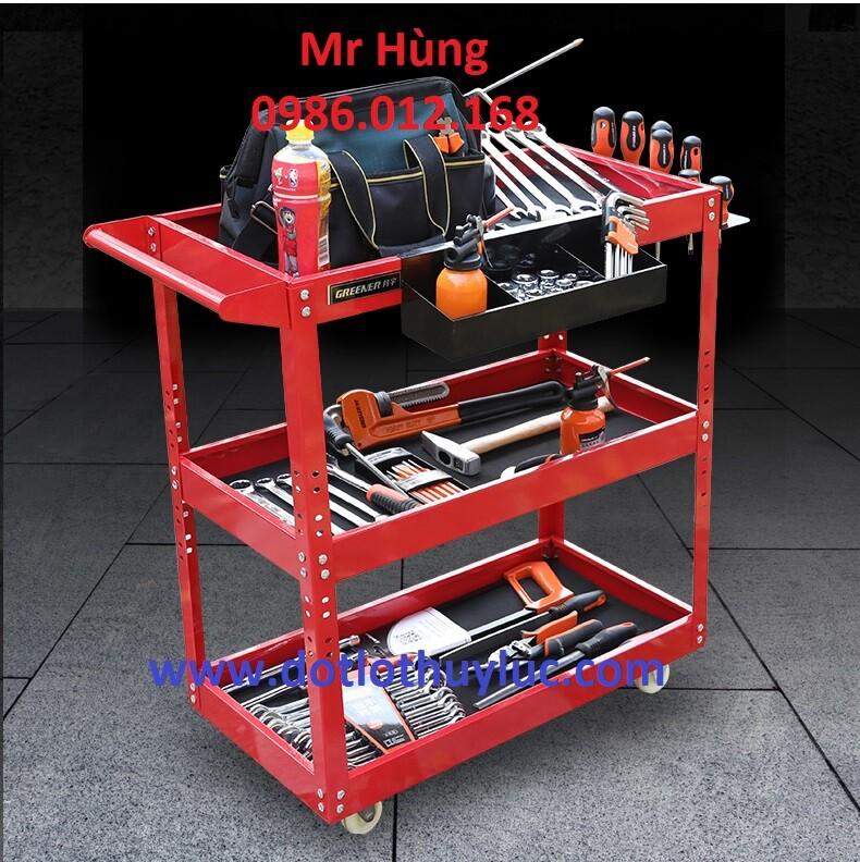 Xe đẩy dụng cụ 3 tầng, xe đựng đồ nghề 3 tầng, xe để đồ nghề 3 ngăn, xe đựng đồ sửa chữa