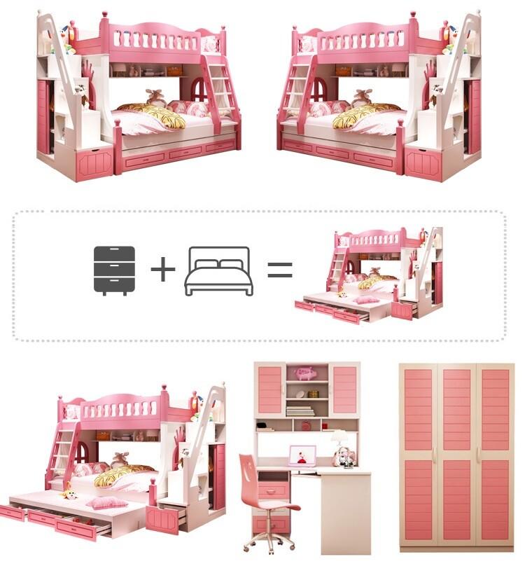 Giường tầng bé gái lều công chúa