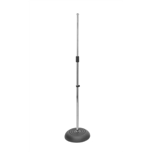 On-Stage MS7201C Round Base Mic Stand (Chrome)