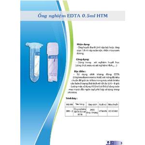Ống nghiệm Edta K3 0.5ml HTM