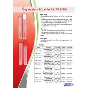 Ống nghiệm lấy mẫu PS/PP HTM