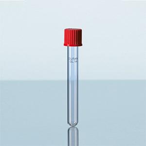 Ống nghiệm nắp vặn nhựa PBT đỏ - DURAN