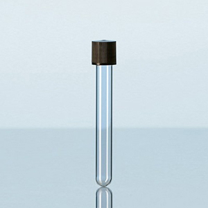 Ống nghiệm thủy tinh soda-lime nắp vặn nhựa PP đen - DURAN