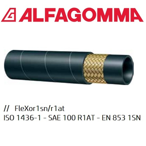 """ỐNG NHỚT THỦY LỰC ALFAGOMMA SAE100 R1AT, SIZE 1/4"""""""