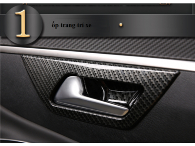 Ốp hõm mở cửa chống xước giả sợi cacbon xe Peugeot 5008 3008