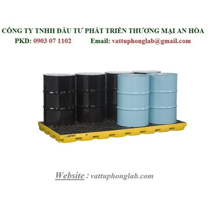 PALLET CHỐNG TRÀN CHO 8 THÙNG PHI MODEL:28661 (BLACK) & 28660 (YELLOW)