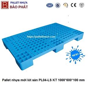 Pallet nhựa mới lót sàn (1000x600x100 mm)
