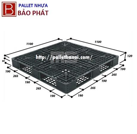 Pallet nhựa cũ KT 1100x1100x120 mm