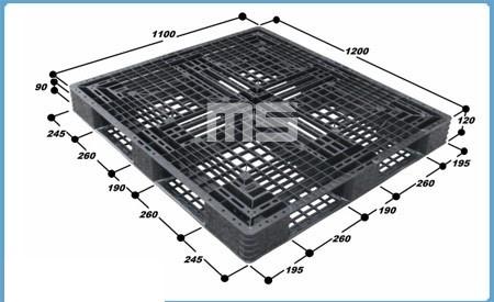 Pallet nhựa 1200*1100*120mm   pallet hàng nhập khẩu giá rẻ