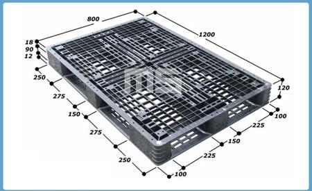 Pallet nhựa 1200*800*120mm