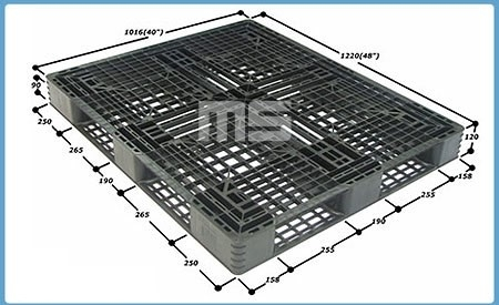 Pallet nhựa 1220*1016*120mm | Pallet nhập khẩu