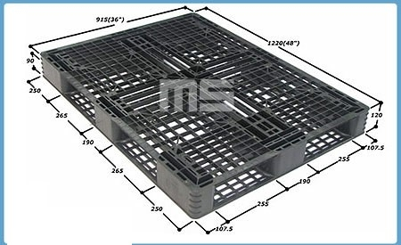 Pallet nhựa 1220*915*120mm | Pallet nhập khẩu Malaysia