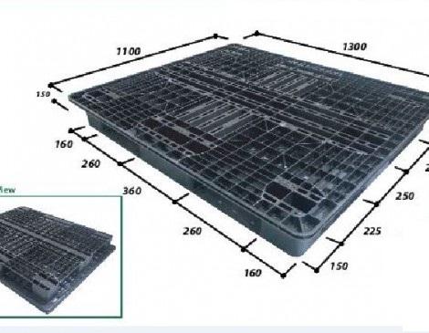 Pallet nhựa 1300*1100*130mm   Pallet nhập khẩu Malaysia