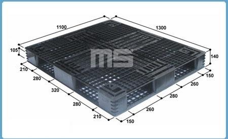 Pallet nhựa 1300*1100*140mm