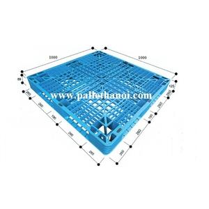 Pallet nhựa cũ KT: 1000x1000x120 mm (Xanh Dương)