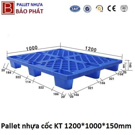 Pallet nhựa cốc mới (1000*1200*145mm)