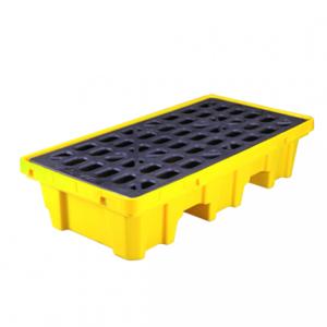 Pallet nhựa chứa phuy chống tràn dầu Poly, 2 drum, dung tích 32 Gallon/ 120 lít Model: SPP102