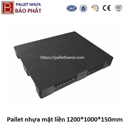 Pallet nhựa cũ mặt liền (1000*1200*150 mm)