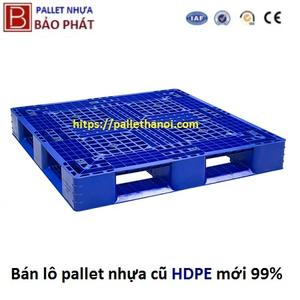 Pallet nhựa cũ kích thước (1100*1100*150mm)