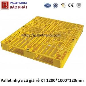 Pallet nhựa cũ gía rẻ (1000*1200*120mm)