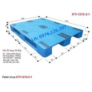Pallet nhựa KTI-1210-2-1 mặt kín