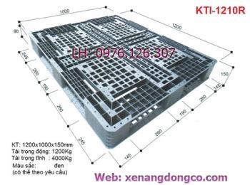 Pallet nhựa KTI-1210R màu đen