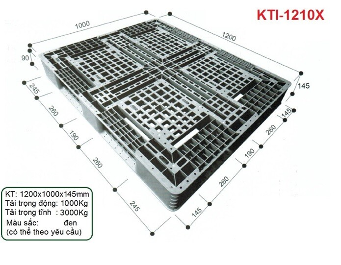 Pallet nhựa KTI-1210X