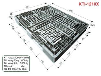 Pallet nhựa KTI-1210X màu đen