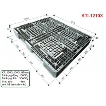 Pallet nhựa KTI-1210X Nhật