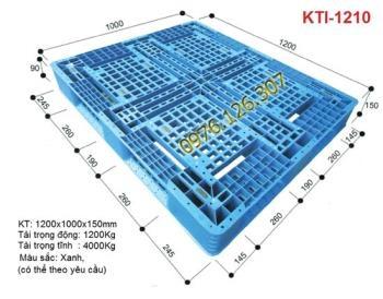 Pallet nhựa màu xanh KTI - 1210