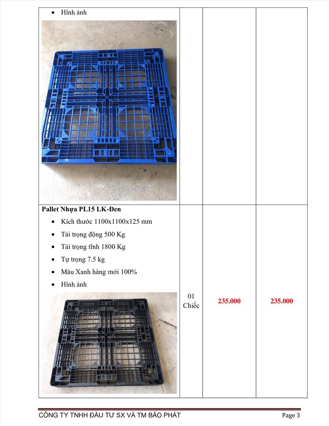 pallet nhựa mới giá rẻ