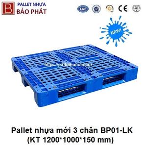 Pallet nhựa mới BP01-LK (1000*1200*150 mm)