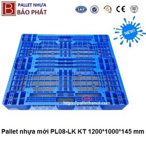 Pallet nhựa mới PL08-LK (1000*1200*145 mm)