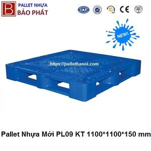 Pallet nhựa mới PL09-LK (1100*1100*150 mm)