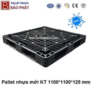 Pallet nhựa mới PL15-LK Đen (1100*1100*125 mm)