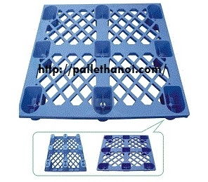 Pallet nhựa chân cốc KT: 1100x1100x145 mm