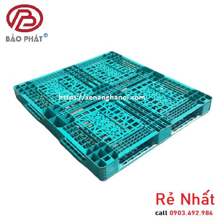 Pallet nhựa cũ rẻ nhất KT1300x1100x120mm