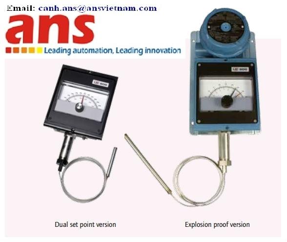 822E-8BS Đồng hồ và công tắc nhiệt độ hiệu UE- United Electic Controls 822E-8BS-6S-6S-W050-QC1