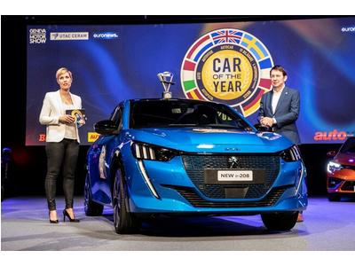 Peugeot 208 đánh bại Porsche Taycan trở thành 'Xe của năm 2020'