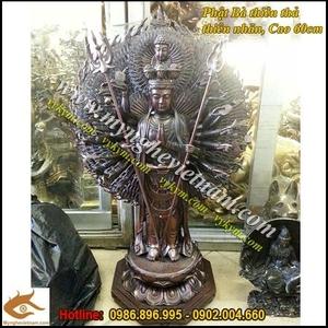 Phật bà nghìn mắt nghìn tay đứng cao 60cm